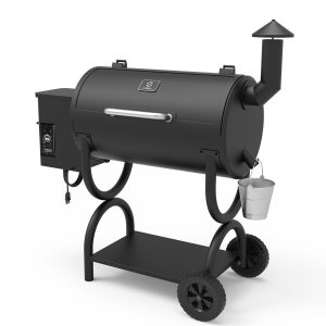 Wood Pellet Grill 2019 Model 7-in-1 BBQ Smoker for Outdoor Cooking 550SQIN Barbecue Area 10LB Hopper (ZPG-550B)