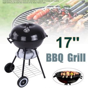 Metal Charcoal BBQ Grill Pit Outdoor Camping Cooker Garden Barbecue Tools BBQ Accessories Cooking Tools Kitchen