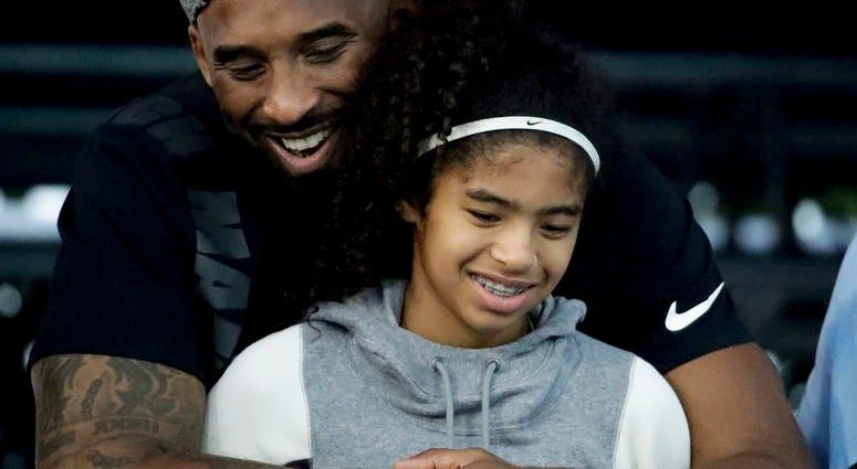 kobe bryant daughter with daughter